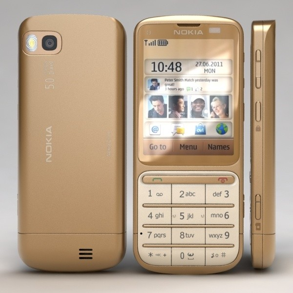 Nokia C3-01 Gold Edition - Specifications, Features and Reviews