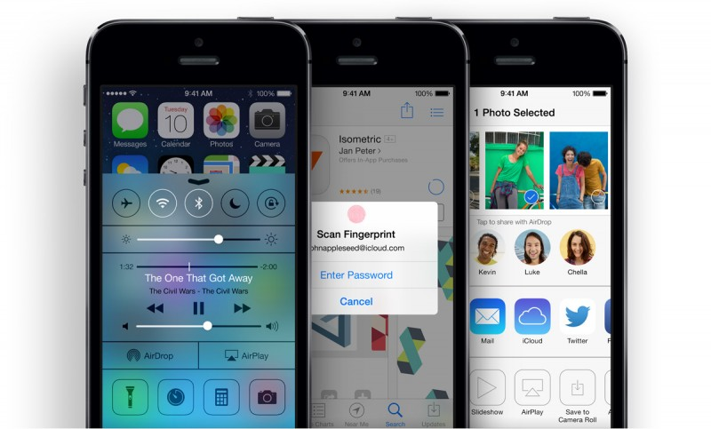 iPhone 5S iOS7 Features