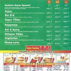 Menu for Arabian Chick Fast Food